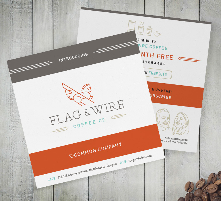 Flag and Wire Introduction Card