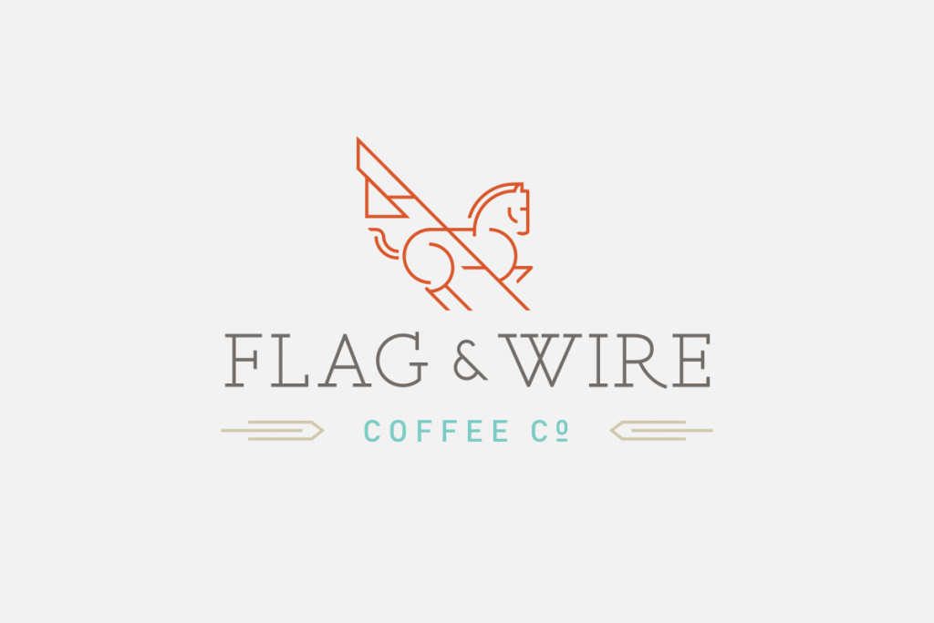 Flag and Wire Logo